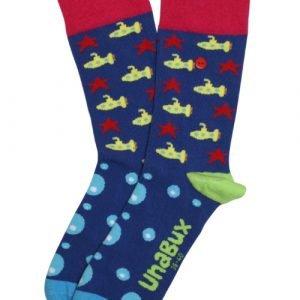 Unabux Submarine Blauw Sokken