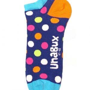 Unabux Speckled Blauw Sokken