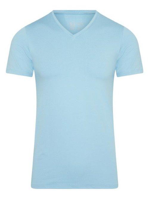 RJ Bodywear Men Pure Color Blauw T-shirt