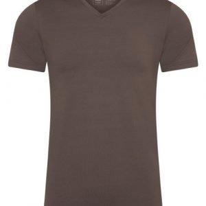 RJ Bodywear Men Pure Color Bruin T-shirt