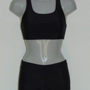 Shiwi Racerback Zwart BIkini Set