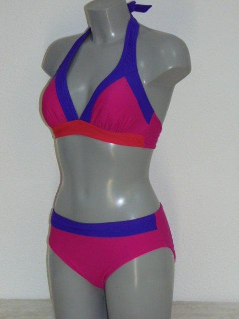 Nickey Nobel Colorblock Roze BIkini Set